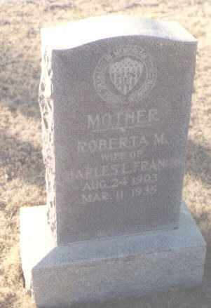 FRANCIS, ROBERTA M. - Curry County, New Mexico | ROBERTA M. FRANCIS - New Mexico Gravestone Photos