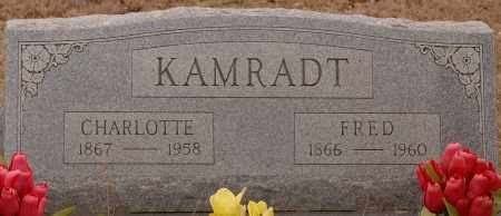 KAMRADT, FRED - CHARLOTTE - Curry County, New Mexico | FRED - CHARLOTTE KAMRADT - New Mexico Gravestone Photos