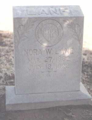 LANE, NORA W. - Curry County, New Mexico | NORA W. LANE - New Mexico Gravestone Photos