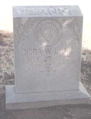 LANE, NORA W. - Curry County, New Mexico | NORA W. LANE - New Mexico Gravestone Photos