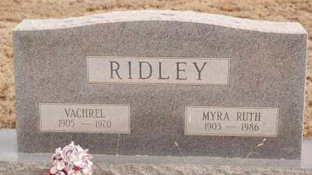 RIDLEY, VACHREL - MYRA RUTH - Curry County, New Mexico | VACHREL - MYRA RUTH RIDLEY - New Mexico Gravestone Photos