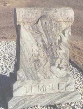 TEMPLE, C. L. - Curry County, New Mexico | C. L. TEMPLE - New Mexico Gravestone Photos