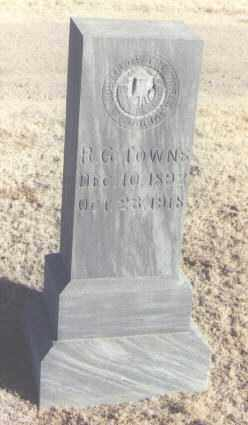 TOWNS, R. G. - Curry County, New Mexico | R. G. TOWNS - New Mexico Gravestone Photos