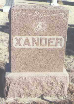 XANDER, NO OTHER INFO - Curry County, New Mexico   NO OTHER INFO XANDER - New Mexico Gravestone Photos