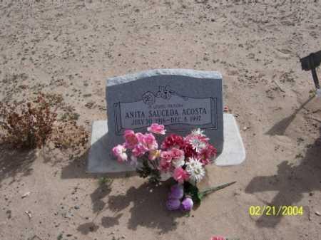 ACOSTA, ANITA - Dona Ana County, New Mexico   ANITA ACOSTA - New Mexico Gravestone Photos