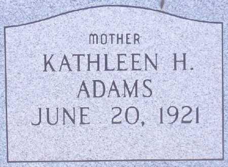 ADAMS, KATHLEEN H. - Dona Ana County, New Mexico | KATHLEEN H. ADAMS - New Mexico Gravestone Photos
