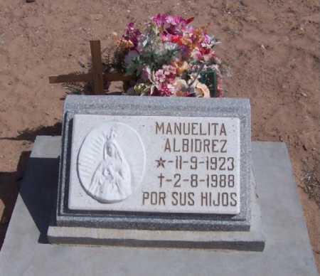 ALBIDREZ, MANUELITA - Dona Ana County, New Mexico | MANUELITA ALBIDREZ - New Mexico Gravestone Photos