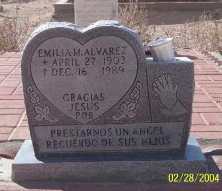 ALVAREZ, EMILIA M. - Dona Ana County, New Mexico | EMILIA M. ALVAREZ - New Mexico Gravestone Photos