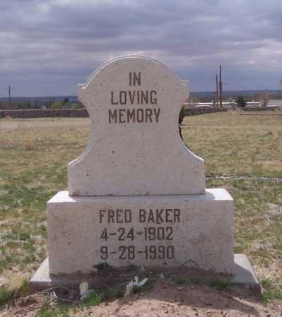 BAKER, FRED - Dona Ana County, New Mexico | FRED BAKER - New Mexico Gravestone Photos
