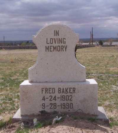 BAKER, FRED - Dona Ana County, New Mexico | FRED BAKER - New Mexico Gravestone Photos