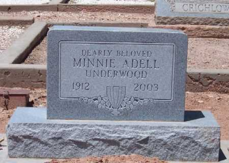 UNDERWOOD, MINNIE ADELL - Dona Ana County, New Mexico | MINNIE ADELL UNDERWOOD - New Mexico Gravestone Photos