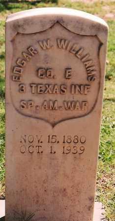 WILLIAMS, EDGAR W. - Eddy County, New Mexico | EDGAR W. WILLIAMS - New Mexico Gravestone Photos