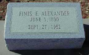 ALEXANDER, FINIS E - Grant County, New Mexico   FINIS E ALEXANDER - New Mexico Gravestone Photos