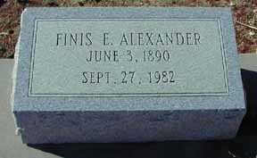 ALEXANDER, FINIS E - Grant County, New Mexico | FINIS E ALEXANDER - New Mexico Gravestone Photos