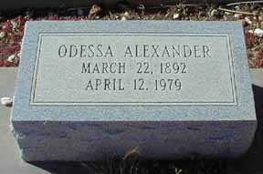 ALEXANDER, ODESSA - Grant County, New Mexico | ODESSA ALEXANDER - New Mexico Gravestone Photos
