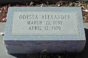 ALEXANDER, ODESSA - Grant County, New Mexico | ODESSA ALEXANDER - New Mexico Gravestone Photos