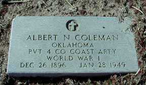 COLEMAN, ALBERT N - Grant County, New Mexico | ALBERT N COLEMAN - New Mexico Gravestone Photos