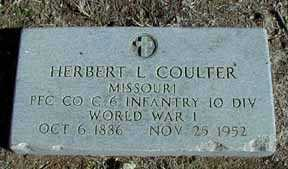 COULTER, HERBERT L - Grant County, New Mexico | HERBERT L COULTER - New Mexico Gravestone Photos