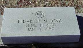 DAVIS, ELIZABETH M - Grant County, New Mexico | ELIZABETH M DAVIS - New Mexico Gravestone Photos