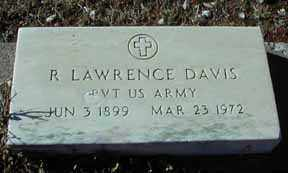 LAWRENCE DAVIS, R - Grant County, New Mexico   R LAWRENCE DAVIS - New Mexico Gravestone Photos