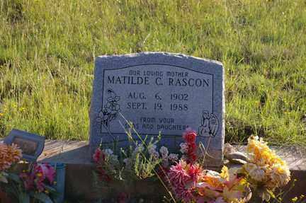 RASCON, MATILDE C - Grant County, New Mexico | MATILDE C RASCON - New Mexico Gravestone Photos