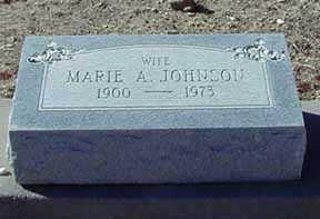 JOHNSON, MARIE - Grant County, New Mexico | MARIE JOHNSON - New Mexico Gravestone Photos