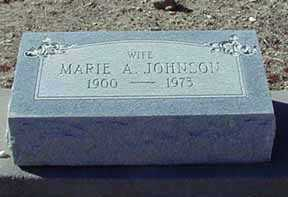 JOHNSON, MARIE - Grant County, New Mexico | MARIE JOHNSON - New Mexico Gravestone Photos