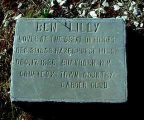 LILLY, BEN - Grant County, New Mexico | BEN LILLY - New Mexico Gravestone Photos