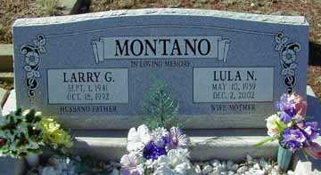 MONTANO, LULA N - Grant County, New Mexico | LULA N MONTANO - New Mexico Gravestone Photos