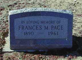 PACE, FRANCES M - Grant County, New Mexico | FRANCES M PACE - New Mexico Gravestone Photos