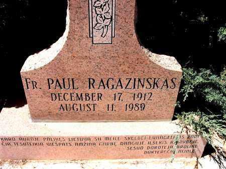 RAGAZINSKAS, FR. PAUL - Grant County, New Mexico | FR. PAUL RAGAZINSKAS - New Mexico Gravestone Photos