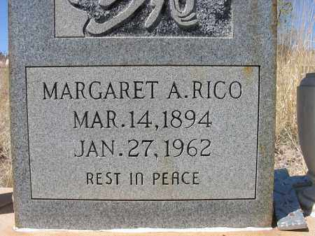 RICO, MARGARET A. - Grant County, New Mexico   MARGARET A. RICO - New Mexico Gravestone Photos