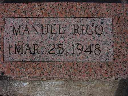 RICO, MANUEL V. - Grant County, New Mexico | MANUEL V. RICO - New Mexico Gravestone Photos