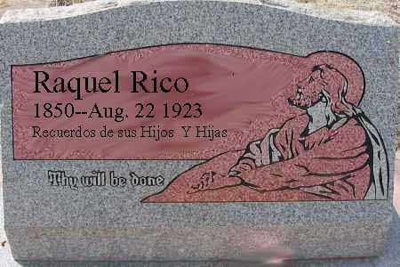 RICO, RAQUEL - Grant County, New Mexico | RAQUEL RICO - New Mexico Gravestone Photos