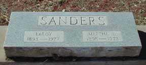 SANDERS, LEROY - Grant County, New Mexico | LEROY SANDERS - New Mexico Gravestone Photos