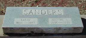 SANDERS, LEROY - Grant County, New Mexico | LEROY SANDERS - New Mexico Gravestone Photos