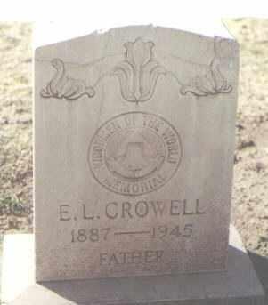 CROWELL, E. L. - Lea County, New Mexico | E. L. CROWELL - New Mexico Gravestone Photos
