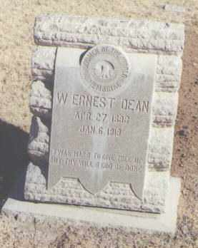 DEAN, W. ERNEST - Lea County, New Mexico   W. ERNEST DEAN - New Mexico Gravestone Photos