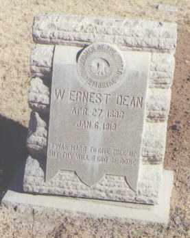 DEAN, W. ERNEST - Lea County, New Mexico | W. ERNEST DEAN - New Mexico Gravestone Photos
