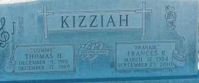 COLLIER KIZZIAH, FRANCES - Lea County, New Mexico   FRANCES COLLIER KIZZIAH - New Mexico Gravestone Photos