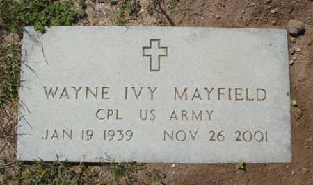 MAYFIELD (MILITARY), WAYNE IVY - Lea County, New Mexico | WAYNE IVY MAYFIELD (MILITARY) - New Mexico Gravestone Photos