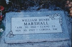 MARSHALL, WILLIAM HENRY - Lincoln County, New Mexico | WILLIAM HENRY MARSHALL - New Mexico Gravestone Photos