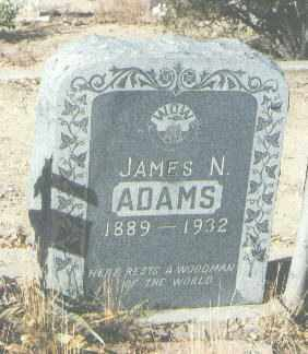 ADAMS, JAMES N. - McKinley County, New Mexico | JAMES N. ADAMS - New Mexico Gravestone Photos