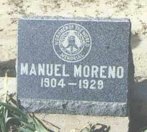 MORENO, MANUEL - McKinley County, New Mexico | MANUEL MORENO - New Mexico Gravestone Photos