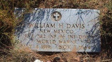 DAVIS, WILLIAM H (VETERAN WWII) - Quay County, New Mexico | WILLIAM H (VETERAN WWII) DAVIS - New Mexico Gravestone Photos
