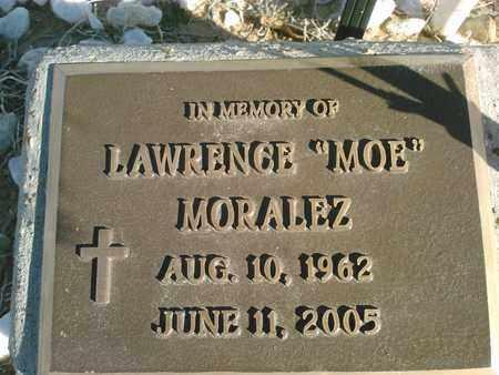 "MORALEZ, LAWRENCE ""MOE"" - Quay County, New Mexico | LAWRENCE ""MOE"" MORALEZ - New Mexico Gravestone Photos"