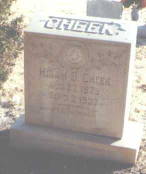 CHEEK, HIRAM D. - Roosevelt County, New Mexico | HIRAM D. CHEEK - New Mexico Gravestone Photos