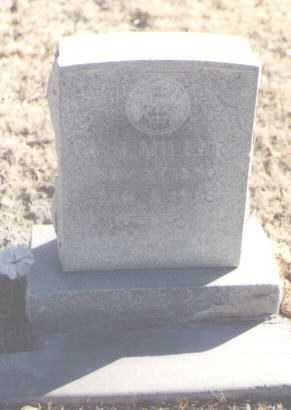 MILLER, A. J. - Roosevelt County, New Mexico | A. J. MILLER - New Mexico Gravestone Photos
