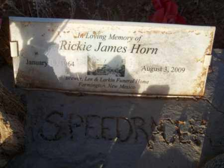 HORN, RICKIE JAMES - San Juan County, New Mexico | RICKIE JAMES HORN - New Mexico Gravestone Photos