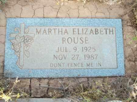 ROUSE, MARTHA ELIZABETH - San Juan County, New Mexico   MARTHA ELIZABETH ROUSE - New Mexico Gravestone Photos